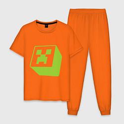 Пижама хлопковая мужская Green Creeper цвета оранжевый — фото 1