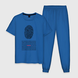 Пижама хлопковая мужская Hacked цвета синий — фото 1
