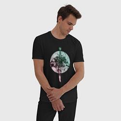 Пижама хлопковая мужская Братство волков цвета черный — фото 2