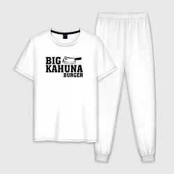 Пижама хлопковая мужская Big Kahuna Burger цвета белый — фото 1