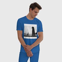 Пижама хлопковая мужская Asking Alexandria цвета синий — фото 2
