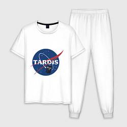 Пижама хлопковая мужская Tardis NASA цвета белый — фото 1