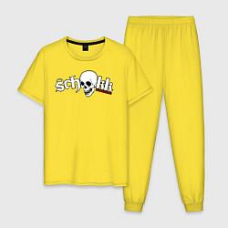 Пижама хлопковая мужская Schokk цвета желтый — фото 1
