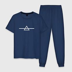 Пижама хлопковая мужская Brand new Mars цвета тёмно-синий — фото 1