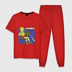 Пижама хлопковая мужская The Offspring: Americana цвета красный — фото 1