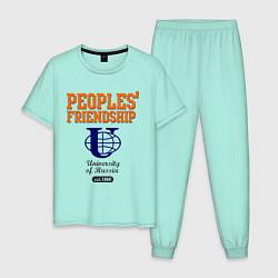 Пижама хлопковая мужская PF UoR цвета мятный — фото 1