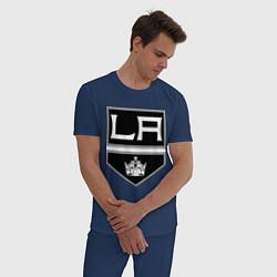 Пижама хлопковая мужская Los Angeles Kings цвета тёмно-синий — фото 2