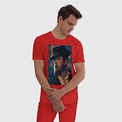 Пижама хлопковая мужская Peaky blinders цвета красный — фото 2