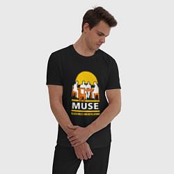 Пижама хлопковая мужская Muse: Black Holes цвета черный — фото 2
