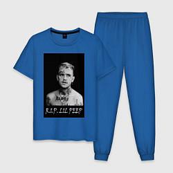 Пижама хлопковая мужская RIP Lil Peep цвета синий — фото 1