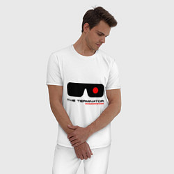 Пижама хлопковая мужская The Terminator цвета белый — фото 2