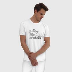 Пижама хлопковая мужская Буду твоим пёсиком цвета белый — фото 2