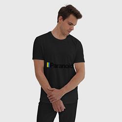 Пижама хлопковая мужская Paranoid цвета черный — фото 2