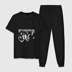 Пижама хлопковая мужская Black Sabbath цвета черный — фото 1