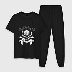 Пижама хлопковая мужская Motrhead цвета черный — фото 1