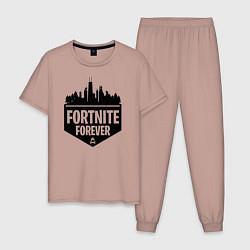 Пижама хлопковая мужская Fortnite Forever цвета пыльно-розовый — фото 1