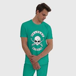 Пижама хлопковая мужская Welders Russia цвета зеленый — фото 2