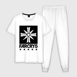 Пижама хлопковая мужская Eden's Gate: Far Cry 5 цвета белый — фото 1