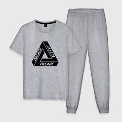 Пижама хлопковая мужская Palace Triangle цвета меланж — фото 1