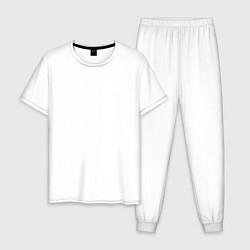 Пижама хлопковая мужская Motrhead: Black Captain цвета белый — фото 1