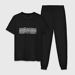 Пижама хлопковая мужская Joy Division цвета черный — фото 1