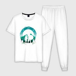 Пижама хлопковая мужская God of War цвета белый — фото 1