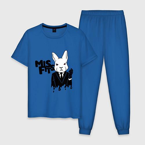 Мужская пижама Misfits Rabbit / Синий – фото 1