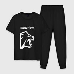 Пижама хлопковая мужская R6S Lion цвета черный — фото 1