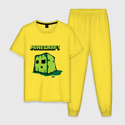 Пижама хлопковая мужская Minecraft Creeper цвета желтый — фото 1