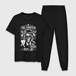 Пижама хлопковая мужская The Smarter & The Lucker цвета черный — фото 1