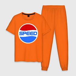 Пижама хлопковая мужская Pepsi Speed цвета оранжевый — фото 1
