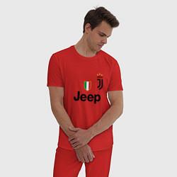 Пижама хлопковая мужская Ronaldo: Juve Sport цвета красный — фото 2