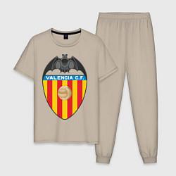 Пижама хлопковая мужская Valencia CF цвета миндальный — фото 1