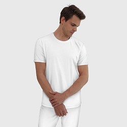 Пижама хлопковая мужская Don't Starve цвета белый — фото 2