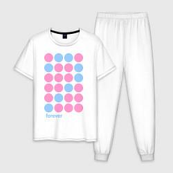 Пижама хлопковая мужская Forever man цвета белый — фото 1