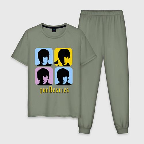 Мужская пижама The Beatles: pop-art / Авокадо – фото 1