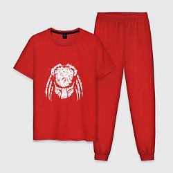 Пижама хлопковая мужская Злобный хищник цвета красный — фото 1