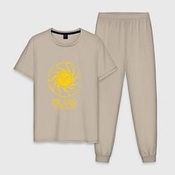 Пижама хлопковая мужская Praise The Sun цвета миндальный — фото 1