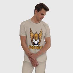 Пижама хлопковая мужская Fortnite Angel цвета миндальный — фото 2
