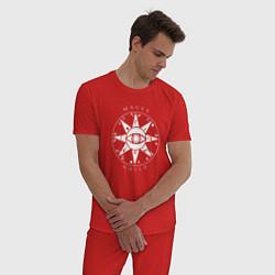 Пижама хлопковая мужская TES: Mages Guild цвета красный — фото 2