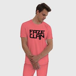 Пижама хлопковая мужская FaZe Clan цвета коралловый — фото 2