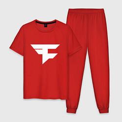 Пижама хлопковая мужская FAZE Symbol цвета красный — фото 1