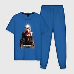 Пижама хлопковая мужская Witcher Girl цвета синий — фото 1