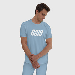 Пижама хлопковая мужская IKON цвета мягкое небо — фото 2