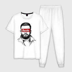Пижама хлопковая мужская Basta Supreme цвета белый — фото 1