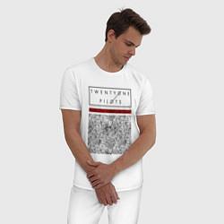Пижама хлопковая мужская TOP: Blurryface цвета белый — фото 2