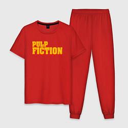 Пижама хлопковая мужская Pulp Fiction цвета красный — фото 1