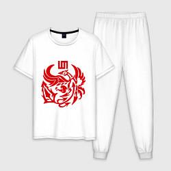 Пижама хлопковая мужская 30 Seconds To Mars цвета белый — фото 1