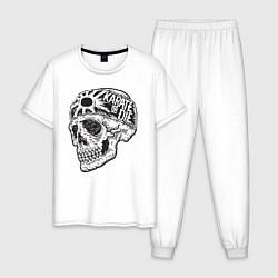 Пижама хлопковая мужская Карате цвета белый — фото 1