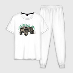 Пижама хлопковая мужская Джип цвета белый — фото 1